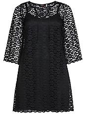 Anna Scholz for sheego - Cocktail-Kleid mit elastischer Spitze