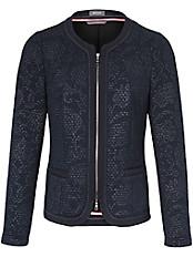 Basler - Jersey-Jacke mit Struktur und dezentem Druck