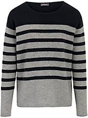 Basler - Pullover mit dekorativen, platzierten Streifen
