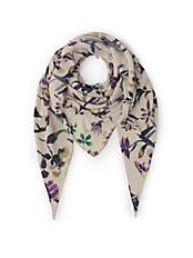 Brax - Dreieck-Schal mit trendigem Floral-Druck