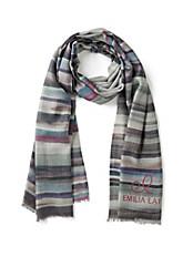 Emilia Lay - Schal in Seide mit Kaschmir und edlen Streifen