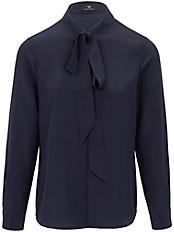 Peter Hahn - Bluse in 100% Seide und abknöpfbarer Schluppe