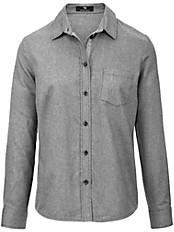Peter Hahn - Bluse mit Hemdkragen und Ripsband