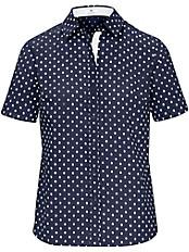 Peter Hahn - Tupfen-Bluse mit 1/2-Arm aus 100% Baumwolle