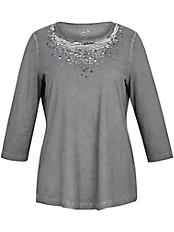 Via Appia Due - Rundhals-Shirt mit 3/4-Arm aus 100% Baumwolle